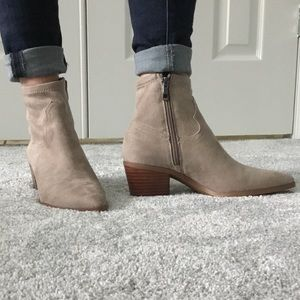 Franco Sarto faux suede ankle boots. Brand NEW.